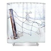 Old Wire Fence Shower Curtain