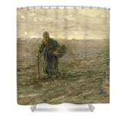 Old Woman On The Heath Shower Curtain