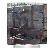 Old Wood  Mining Ore Car Shower Curtain