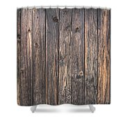 Old Wood Shack Exterior Background Shower Curtain