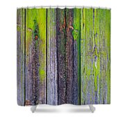 Old Wooden Background Shower Curtain