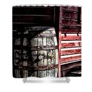Old Wooden Barrel Shower Curtain