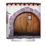 Old Wooden Door Shower Curtain