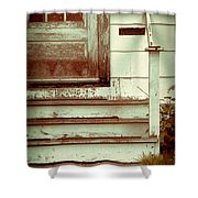 Old Wooden Porch Shower Curtain