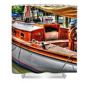 Old Wooden Sailboat Shower Curtain