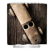 Old Wooden Vintage Toy Car Shower Curtain