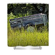 Old Wooden Wagon Shower Curtain