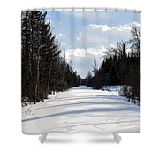 Old Woods Road Shower Curtain