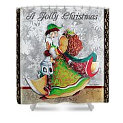 Old World Santa Clause Christmas Art Original Painting By Megan Duncanson Shower Curtain