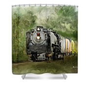 Old World Steam Engine Shower Curtain