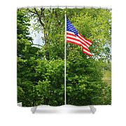 Old Yard Cemetery In Stowe Vermont Shower Curtain