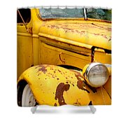 Old Yellow Truck Shower Curtain