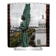 Olde Montreal Angel Shower Curtain by Alice Gipson