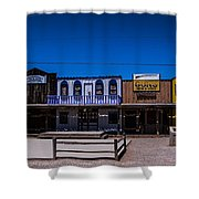 Olde Strip Mall Shower Curtain
