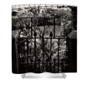 Olde Victorian Gate Leading To A Secret Garden - Peak District - England Shower Curtain