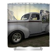 Older Classic Truck Shower Curtain