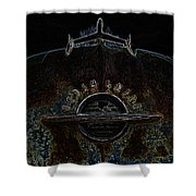 Oldsmobile Glow Shower Curtain