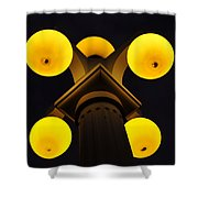 Old Tampa Lights Color Work One Shower Curtain