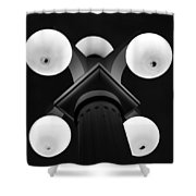 Old Tampa Light Black And White Shower Curtain