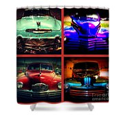 Oldtimer Collage Shower Curtain