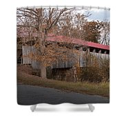 Oldtown Covered Bridge Shower Curtain