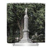 Ole Miss Confederate Statue Shower Curtain