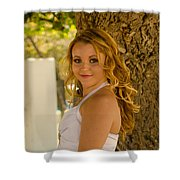 Olga 5 Shower Curtain