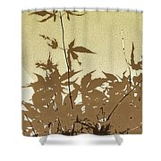 Olive And Brown Haiku Shower Curtain