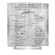 Olive Branch Petition, 1775 Shower Curtain