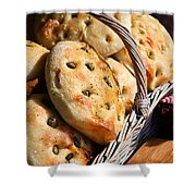 Olive Bread Shower Curtain