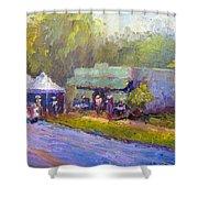 Olive Market Festival Shower Curtain