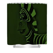 Olive Zebra Shower Curtain