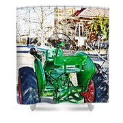Oliver 60 Tractor In Dell Shower Curtain