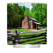 Oliver Cabin 1820s Shower Curtain by David Lee Thompson