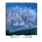 Oliver Sleeping Shower Curtain