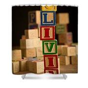 Olivia - Alphabet Blocks Shower Curtain