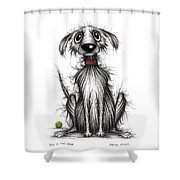 Ollie The Dog Shower Curtain