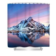 Olstind Lofoten Islands Norway Shower Curtain