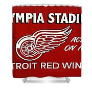 Olympia Stadium - Detroit Red Wings Sign Shower Curtain