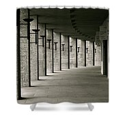 Olympiastadion Berlin Corridor Shower Curtain