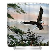 Olympic Coast Eagle Shower Curtain