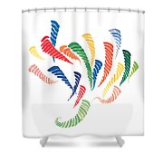 Olympic Fire Shower Curtain