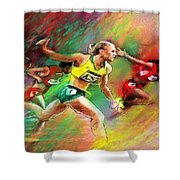 Olympics 100 Metres Hurdles Sally Pearson Shower Curtain