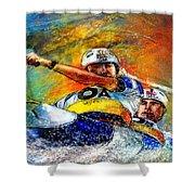 Olympics Canoe Slalom 04 Shower Curtain by Miki De Goodaboom