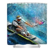 Olympics Rowing 01 Shower Curtain