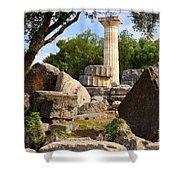 Olympus Ruins Shower Curtain