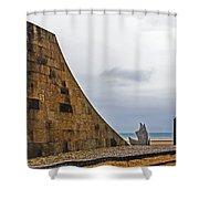 Omaha Beach Memorial Shower Curtain