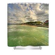Omaha Beach  Shower Curtain