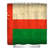 Oman Flag Vintage Distressed Finish Shower Curtain