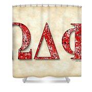 Omega Delta Phi - Parchment Shower Curtain